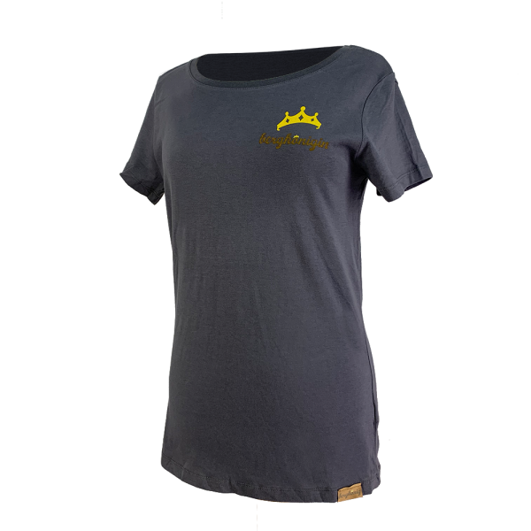 T-Shirt - bergkönigin Basic Damen - Umbra