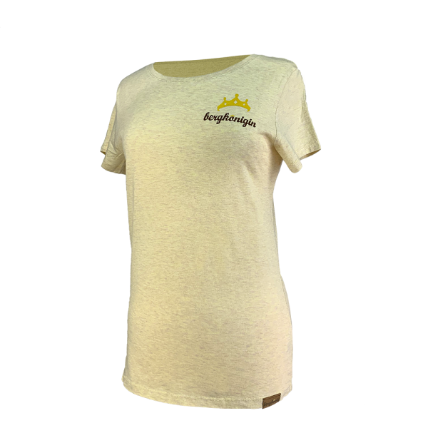 T-Shirt - bergkönigin Basic Damen - Zitrone